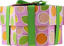 Perfumería y cosmética Set - Bomb Cosmetics Fruit Basket Hexagonal Gift Box (bomba de baño/2uds. + jabón/2uds. + exfoliante corporal/120ml + gel de ducha/120ml)