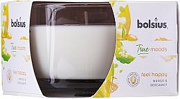 Perfumería y cosmética Vela aromática en tarro, mango y bergamota 63/90 mm - Bolsius True Moods Candle