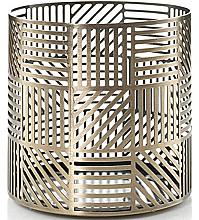 Perfumería y cosmética Portavelas decorativa - Yankee Candle Crosshatch Brass Jar Holder