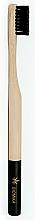 Perfumería y cosmética Cepillo dental de bambú, medio, negro - Biomika Natural Bamboo Toothbrush