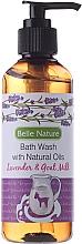 Perfumería y cosmética Gel de ducha con aceite natural de lavanda y leche de cabra - Belle Nature Bath Wash Lavender&Goat Milk