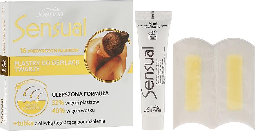 Bandas de cera depilatoria faciales con aceite de cártamo - Joanna Sensual Dipilatory Face Strips