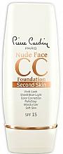 Perfumería y cosmética CC crema SPF 15 - Pierre Cardin Nude Face CC Foundation Second Skin SPF 15