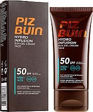Perfumería y cosmética Crema-gel facial de protección solar - Piz Buin Hydro Infusion SPF 50