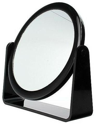 Espejo cosmético de doble cara, 85055, negro - Top Choice