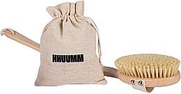 Perfumería y cosmética Cepillo de masaje corporal seco con cerdas suaves - Hhuumm, № 4