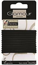 Perfumería y cosmética Gomas de pelo, 414687, negras - Glamour