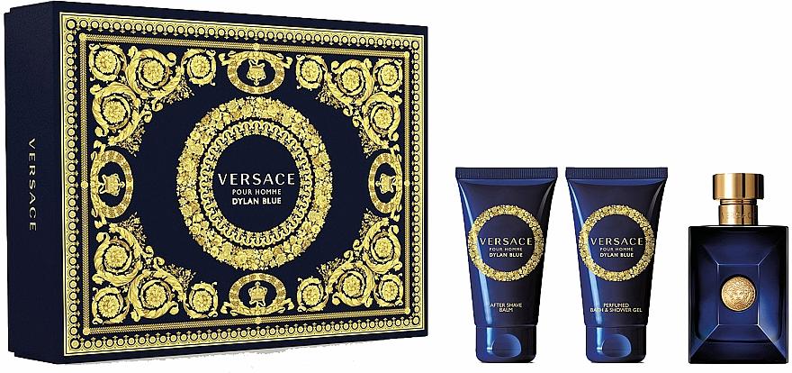 Versace Dylan Blue Pour Homme - Set (eau de toilette/50ml + gel de ducha y baño perfumado/50ml + bálsamo aftershave/50ml)