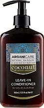 Perfumería y cosmética Acondicionador sin aclarado con aceite de argán & coco - Arganicare Coconut Leave-In Conditioner For Very Dry & Dull Hair