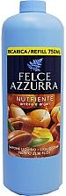 Perfumería y cosmética Recarga jabón de manos líquido nutritivo con aroma a ámbar y argán - Felce Azzurra Nutriente Amber & Argan