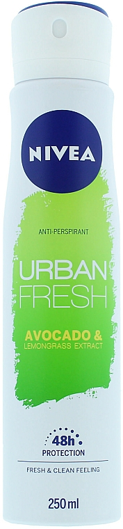 Spray desodorante antitranspirante con extracto de limón u aguacate - Nivea Urban Fresh Avocado And Lemongrass Anti-Perspirant Spray