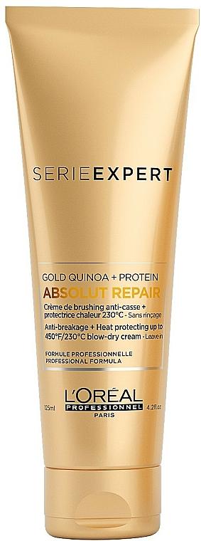 Crema capilar antirotura con protección térmica a base de quinoa y proteínas - L'Oreal Professionnel Absolut Repair Gold Qunoa+Protein Crema