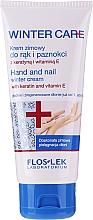 Perfumería y cosmética Crema de manos y uñas para invierno con queratina y vitamina E - Floslek Winter Care Hand And Nail Winter Cream
