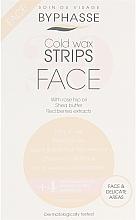 Perfumería y cosmética Bandas de cera depilatoria para rostro, pieles sensibles - Byphasse Cold Wax Strips Face & Delicate Areas For Sensitive Skin (bandas/20uds. + toallitas húmedas/4uds.)