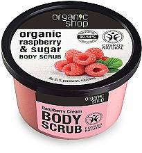 Perfumería y cosmética Exfoliante corporal orgánico con extracto de frambuesa - Organic Shop Body Scrub Organic Raspberry & Sugar