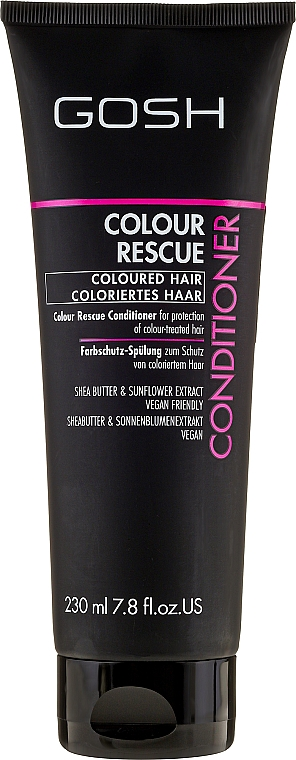Acondicionador protector de color con manteca de karité - Gosh Colour Rescue Conditioner — imagen N1