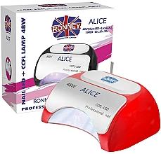 Perfumería y cosmética Lámpara CCFL+LED para manicura, roja - Ronney Profesional Alice Nail CCFL+LED 48w (GY-LCL-015D) Lamp