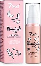 Perfumería y cosmética Crema fluida facial iluminadora con perlas y pantenol 4 en 1 - 7 Days Illuminate Me Luminous Fluid Cream 4in1