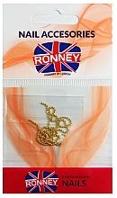 Perfumería y cosmética Cadena decorativa para uñas, 00375, color dorado - Ronney Professional
