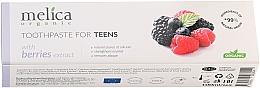 Perfumería y cosmética Pasta dental orgánica con extracto de bayas, 6-14 años - Melica Organic Toothpaste For Teens With Berries Extract