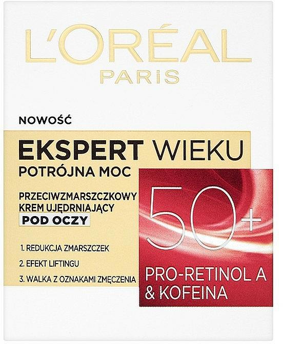 Crema contorno de ojos con pro-retinol & cafeína - L'Oreal Paris Age Specialist Expert Eye Cream 50+