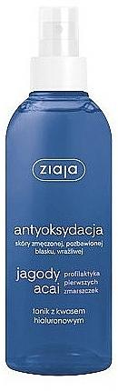Tónico facial con ácido hialurónico y extracto de bayas de acai - Ziaja Jagody Acai Tonik