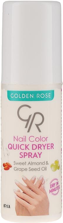 Spray secante de uñas con aceite de almendras dulces - Golden Rose Nail Quick Dryer Spray