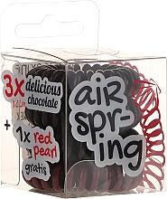 Perfumería y cosmética Coletero espiral, marrón y negro - Hair Springs