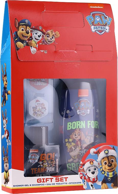 Set (gel de ducha/250ml+ edt/50ml+ stickers) - Uroda For Kids Paw Patrol Red
