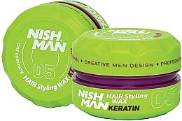 Perfumería y cosmética Cera moldeadora de cabello con queratina, fijación media - Nishman Hair Styling Wax 05 Keratin