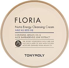 Perfumería y cosmética Crema de limpieza facial con aceite de argán y extracto de aloe - Tony Moly Floria Nutra-Energy Cleansing Cream