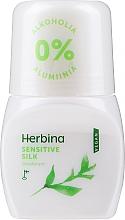 Perfumería y cosmética Desodorante roll-on, sin alcohol - Berner Herbina Sensitive Silk