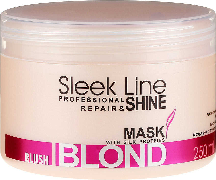 Mascarilla capilar reparadora con proteínas de seda - Stapiz Sleek Line Blush Blond Mask