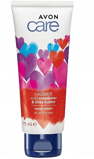 Crema de manos con agua de rosas y manteca de karité - Avon Care Corazones
