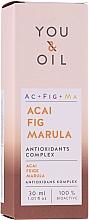 Perfumería y cosmética Sérum facial antioxidante con aceites de acai, higo y marula, vegano - You & Oil Acai Fig Marula