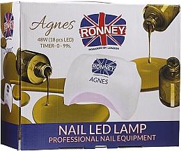 Perfumería y cosmética Lámpara LED para manicura, negro - Ronney Profesional Agnes Pro LED 48W (GY-LED-032)