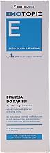 Perfumería y cosmética Emulsión facial limpiadora con aceites de cáñamo, canola y soja - Pharmaceris Emotopic E Emulsion