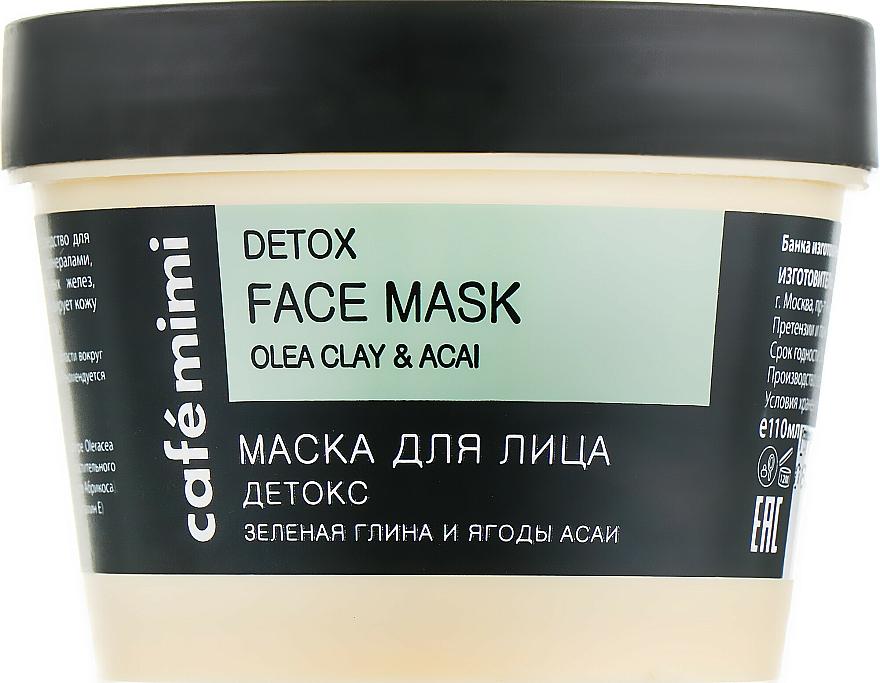 Mascarilla facial detox con arcilla verde - Cafe Mimi Face Mask