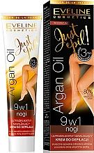Perfumería y cosmética Crema depilatoria para piernas 9 en 1 con aceite de argán - Eveline Cosmetics Argan Oil