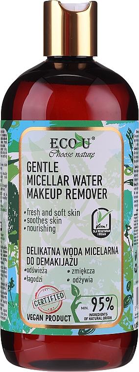 Agua micelar con extractos de pepino y menta - Eco U Choose Nature Gentle Micellar Water