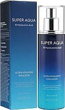 Perfumería y cosmética Emulsión facial revitalizante de ácidos hialurónicos - Missha Super Aqua Ultra Hyalron Emulsion