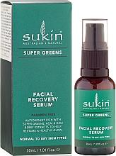 Perfumería y cosmética Sérum facial hidratante con extracto de bayas de goji, aceite de uva y vitamina E - Sukin Super Greens Facial Recovery Serum