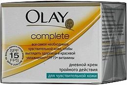 Perfumería y cosmética Crema vitamínica de día para pieles sesibles, SPF 15 - Olay Complete Day Cream