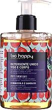 Perfumería y cosmética Gel limpiador para rostro y cuerpo con agua de madroño y bayas de saúco - Bio Happy Arbutus & Elderberry Face & Body Wash
