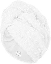 Perfumería y cosmética Toalla turbante, blanca - MakeUp