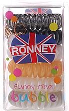 Perfumería y cosmética Coletero espiral, 6 uds - Ronney Professional Funny Ring Bubble 15
