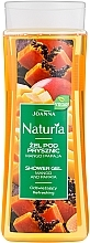 Perfumería y cosmética Gel de ducha con extracto de mango y papaya - Joanna Naturia Mango and Papaya Shower Gel
