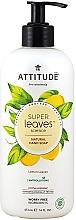 Perfumería y cosmética Jabón de manos hipoalergénico con extracto de hoja de limón - Attitude Super Leaves Natural Lemon Leaves Hand Soap