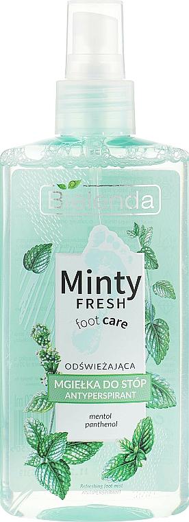 Spray antitranspirante para pies con mentol y pantenol - Bielenda Minty Fresh Foot Care Antiperspirant