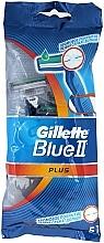 Perfumería y cosmética Maquinillas de afeitar desechables, 5uds. - Gillette Blue II Plus
